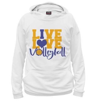 Мужское Худи Live! Live! Volleyball!