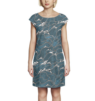 Женское Платье без рукавов Волны