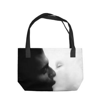 Пляжная сумка Черное и белое