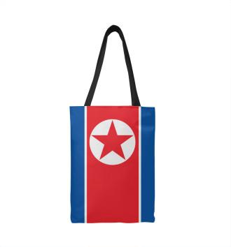 Сумка-шоппер Флаг Северной Кореи