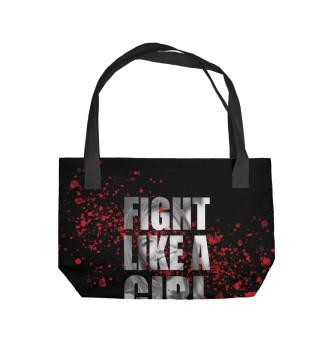 Пляжная сумка Fight like a Girl