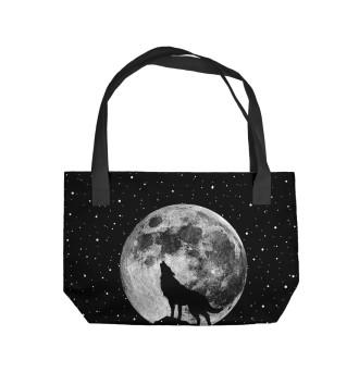 Пляжная сумка Лунный волк