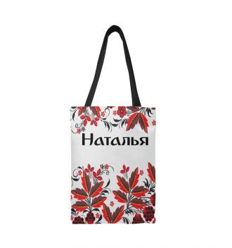 Сумка-шоппер Наталья роспись хохлома