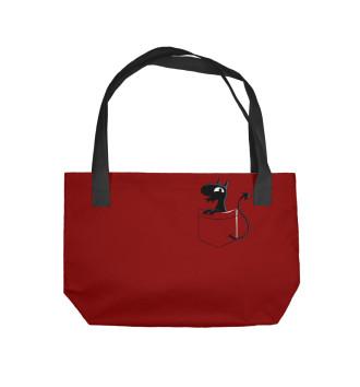 Пляжная сумка Карманный Люси
