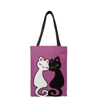 Сумка-шоппер Кот и Кошка: любовь