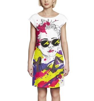 Женское Платье без рукавов Арт