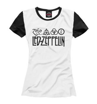 Женская Футболка Led Zeppelin