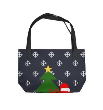 Пляжная сумка Подарок от Деда Мороза