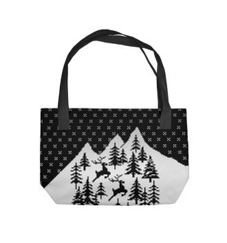 Пляжная сумка Олени в Горах