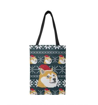 Сумка-шоппер Doge новый год