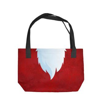 Пляжная сумка Дед Мороз борода с ремнем