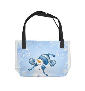 Пляжная сумка Cнеговик