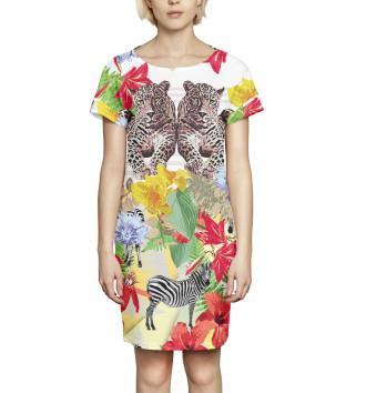 Женское Платье летнее Абстракция