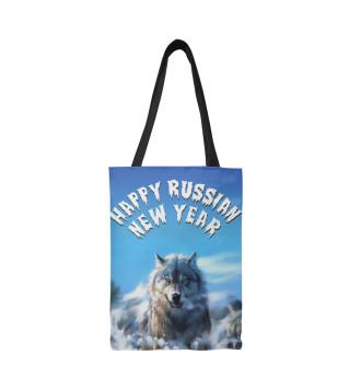 Сумка-шоппер Happy Russian New Year
