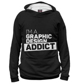 Женское Худи Graphic design addict