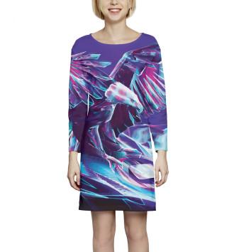 Женское Платье с рукавом Ястреб