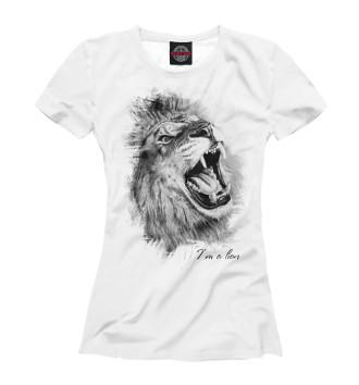 Женская Футболка Lion - Лев