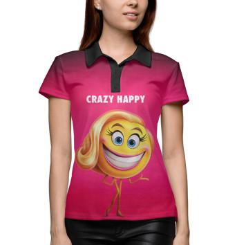 Женское Поло Crazy Happy