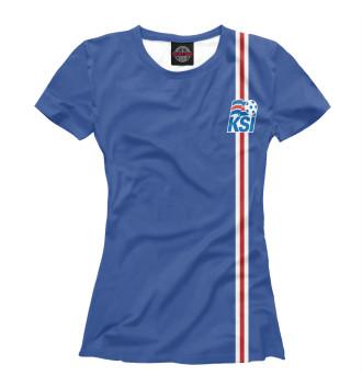 Женская Футболка Сборная Исландии