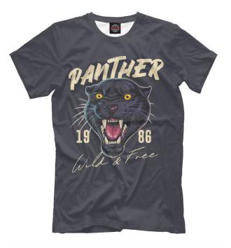 Мужская Футболка Пантера