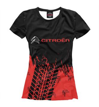 Женская Футболка Citroen / Ситроен