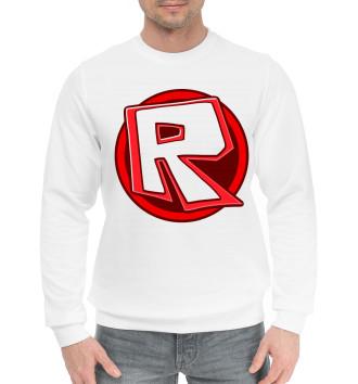 Мужской Хлопковый свитшот Roblox Logo