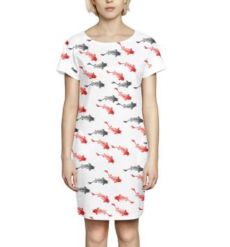 Женское Платье летнее Рыба