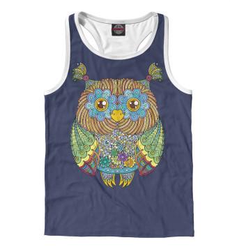 Мужская Борцовка Friendly Zentangle Owl