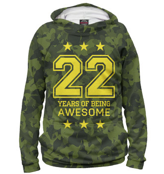 Женское Худи 22 Years of Being Awesome