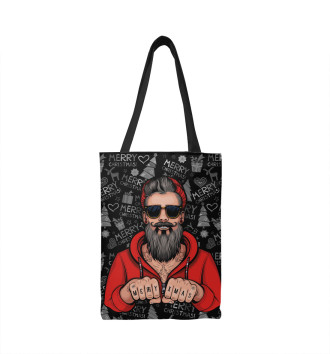 Сумка-шоппер Hipster Santa