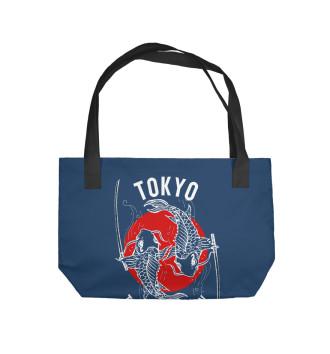 Пляжная сумка Tokyo. Travel to Japan