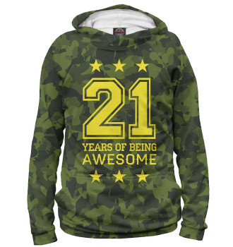 Женское Худи 21 Years of Being Awesome
