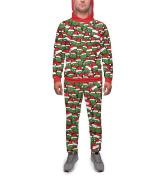 Мужской Спортивный костюм Новогодние лягушки