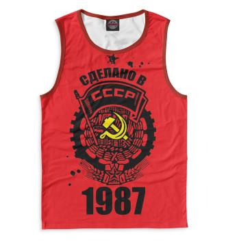 Мужская Майка Сделано в СССР — 1987