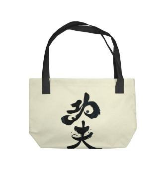 Пляжная сумка Panda Hieroglyph