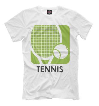 Мужская Футболка Теннис