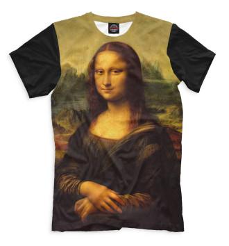 Мужская Футболка Мона Лиза Джоконда