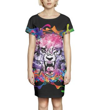 Женское Платье летнее Тигр
