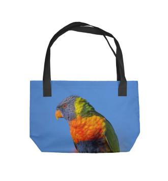 Пляжная сумка Попугай
