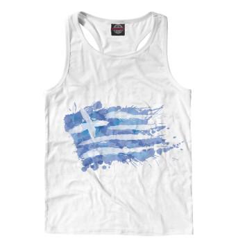 Мужская Борцовка Греческий флаг Splash