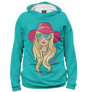 Женское Худи Barbie в шляпе