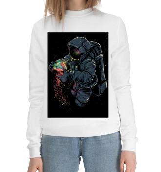 Женский Хлопковый свитшот Космическая Медуза
