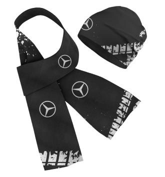 Шапка и шарф Mercedes-Benz abstract sport uniform