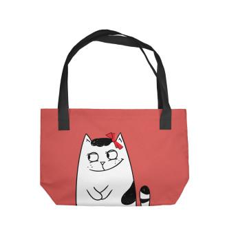 Пляжная сумка Котики