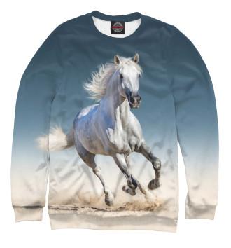Женский Свитшот Белый конь