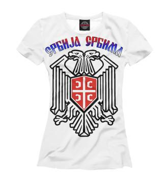 Женская Футболка Сербия