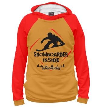 Женское Худи Snowboarder Inside
