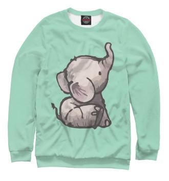 Мужской Свитшот Маленький слон