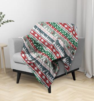 Плед новогодний свитер