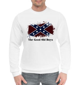 Мужской Хлопковый свитшот Старые времена Конфедерации